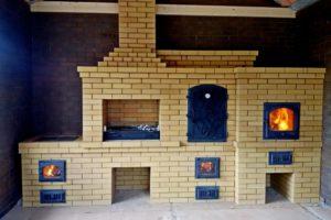 Барбекю комплекс в закрытом помещении